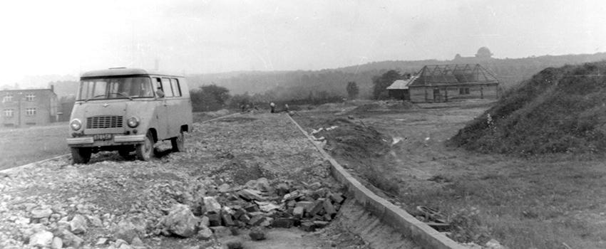45 lat skansenu w Chorzowie - widok na wieżę telewizyjną
