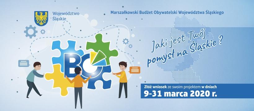 Marszałkowski Budżet Obywatelski Województwa Śląskiego - grafika informacyjna