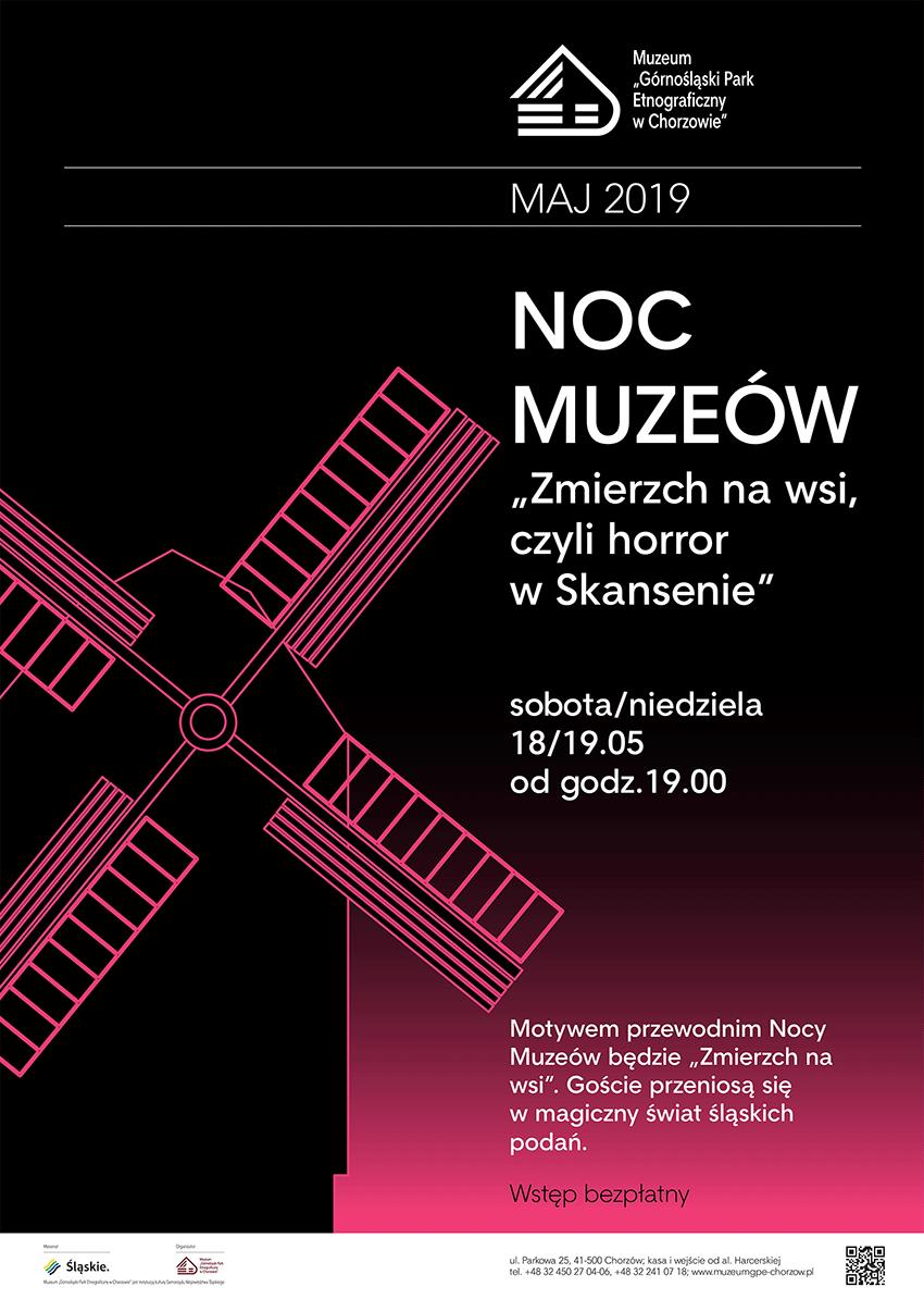 NOC MUZEÓW 2019 - Skansen Chorzów - plakat