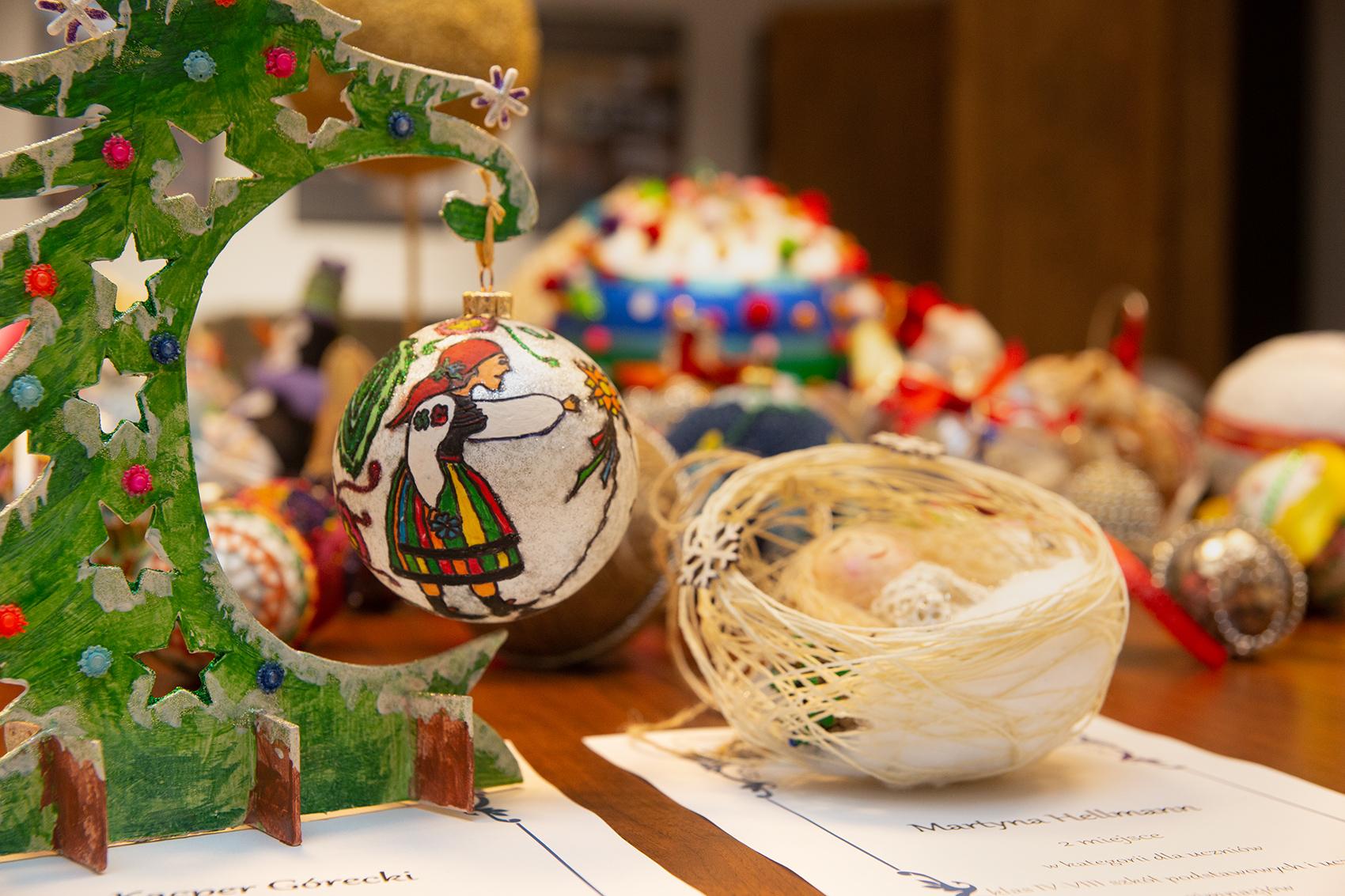 Ozdoby świąteczne przygotowane na konkurs