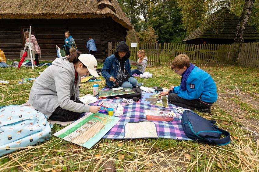 Piknik malarski Sielskie Klimaty - Skansen Chorzów 2