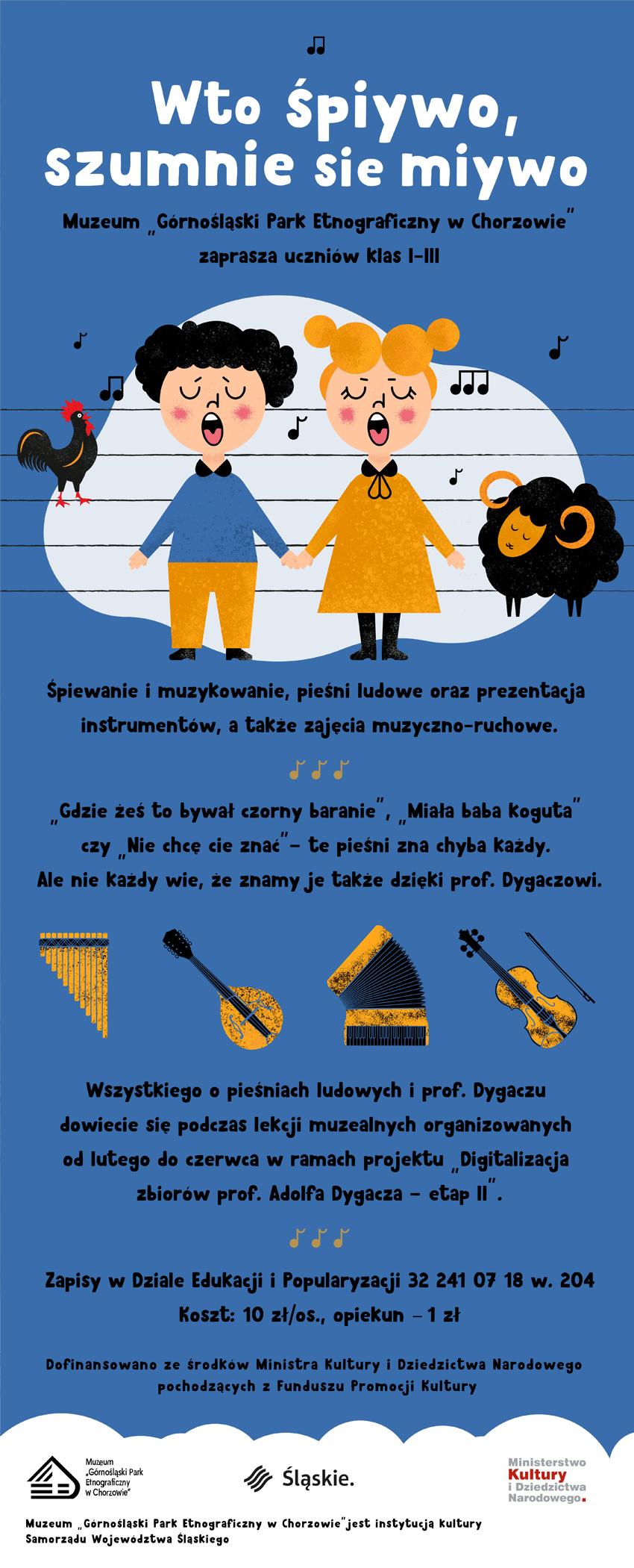 Ulotka o zajęciach - Adolf Dygacz - Skansen Chorzów