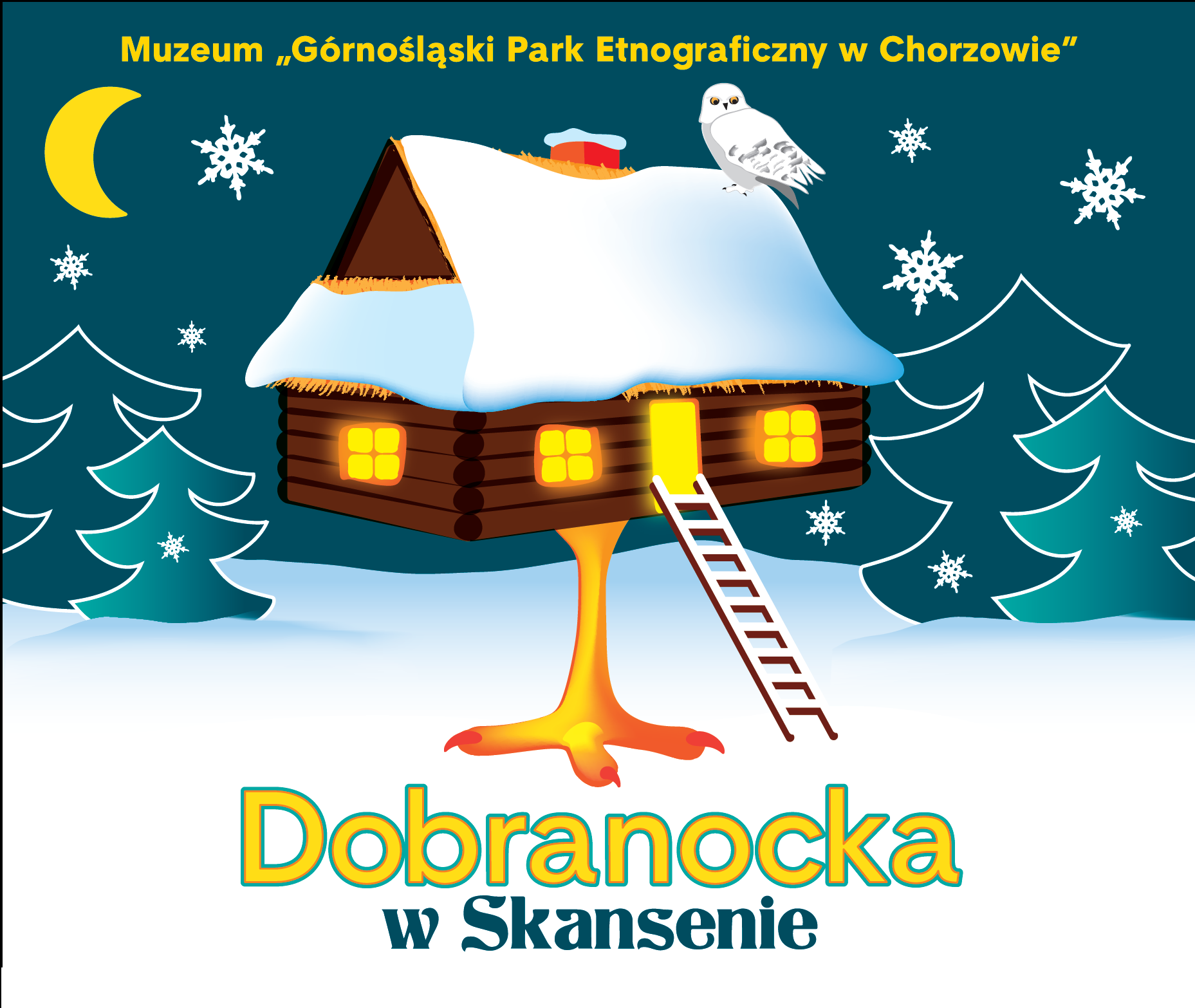 Dobranocka w Skansenie - ilustracja - skansen Chorzów